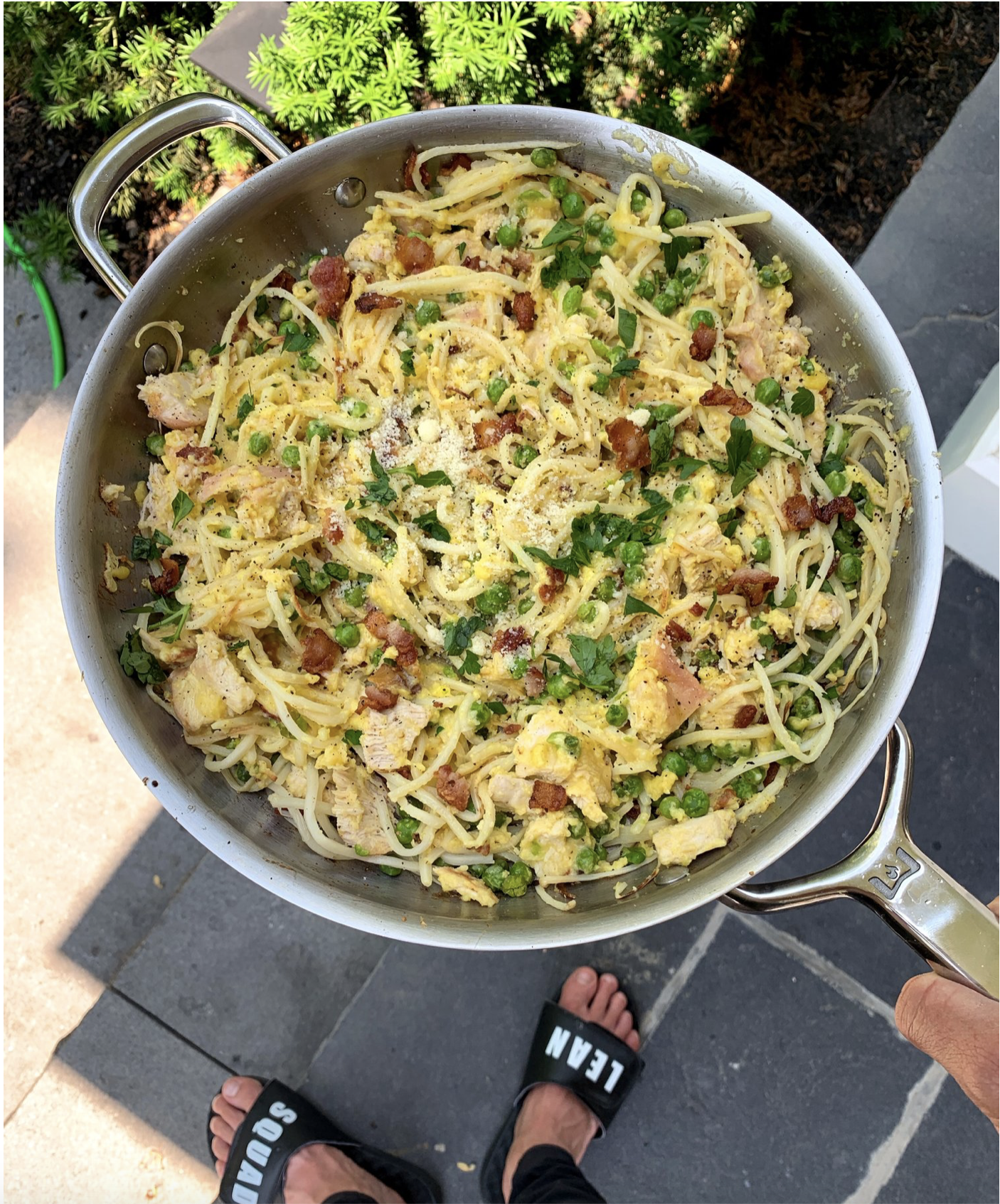 Low Carb Turkey Carbonara