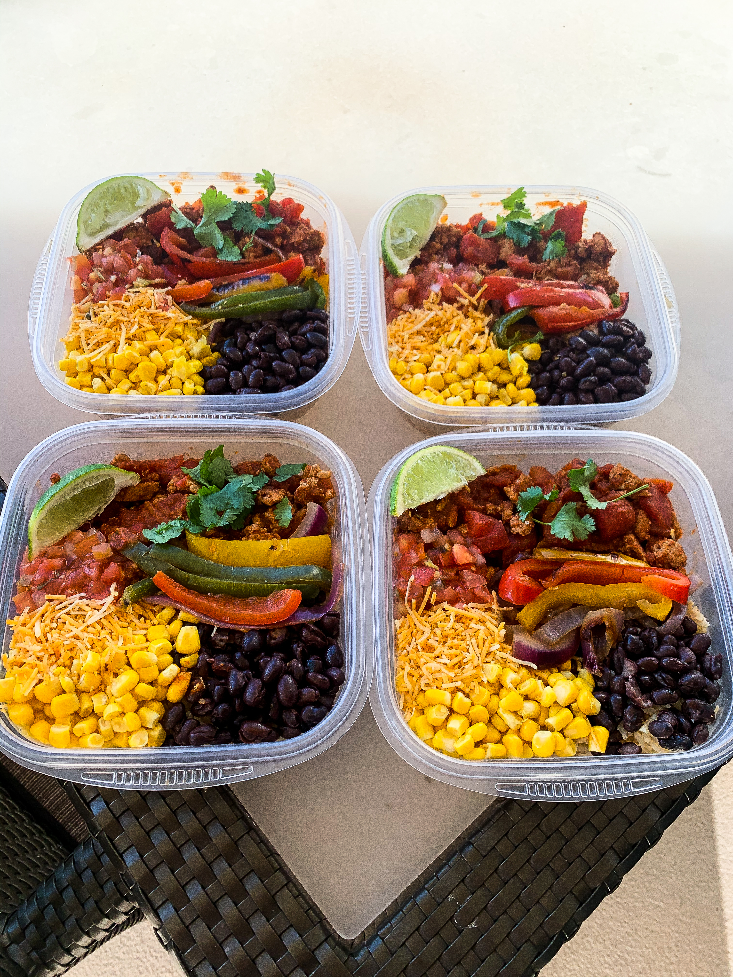 Meal Prep for Beginners: Turkey Taco Bowls