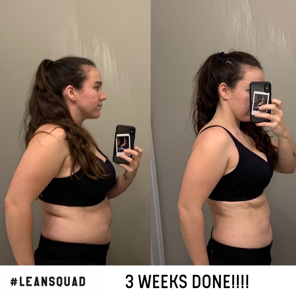 Squadie transformation after only 3 weeks!
