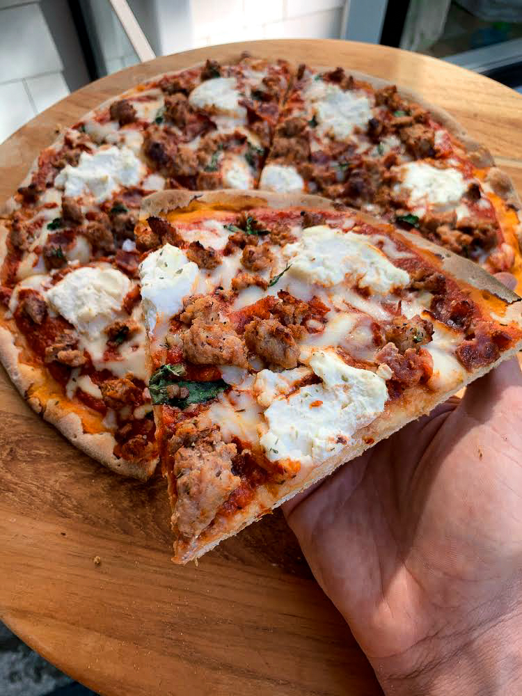 LEAN-LOVERS TURKEY MEAT PIZZA!